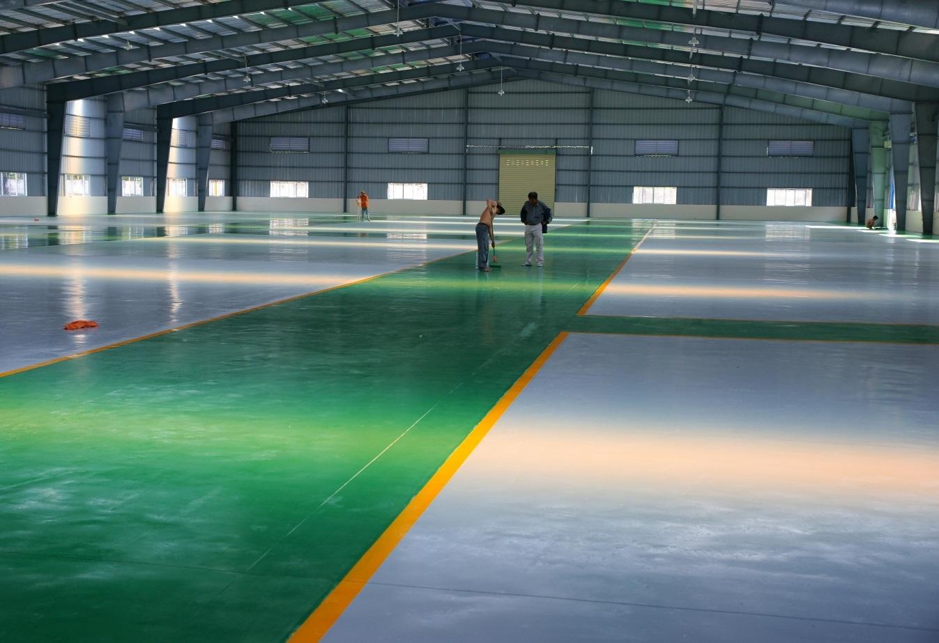Lý do sàn nhà xưởng nên sơn epoxy