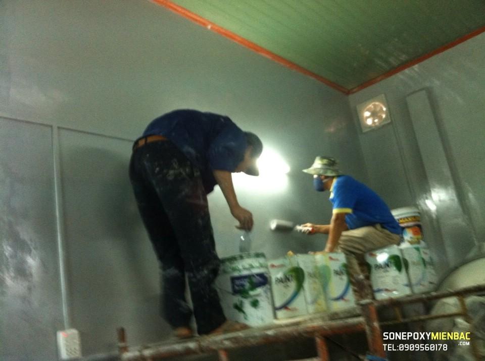 Công trình sơn phòng sách kháng khuẩn